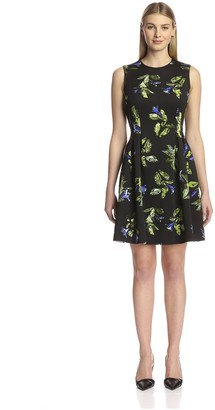 Andrew Marc Women's Printed Fit and Flare Dress
