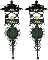 One Kings Lane Vintage French Scrolled Lantern Sconces, S/2