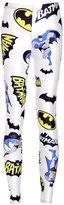 Lady Queen Women's Basic Batman Print Stretch Skinny Leggings Pants M