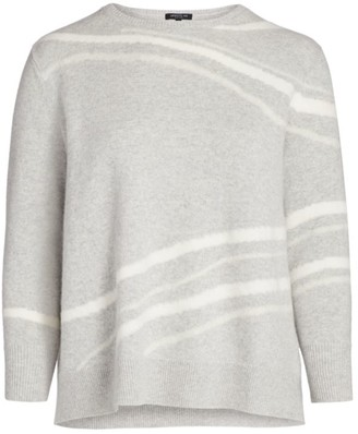 Lafayette 148 New York, Plus Size Needle Punch Cashmere Pullover
