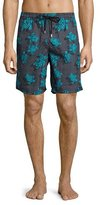 Vilebrequin Okoa Sea Reflection Printed Swim Trunk, Black Pattern