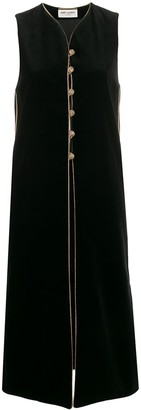 Saint Laurent Sleeveless Velvet Maxi Gilet