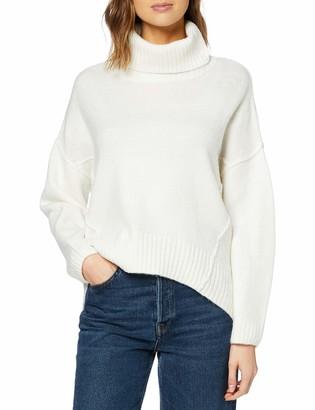 New Look Women's Op Roll Neck Reverse Jumper Sweater