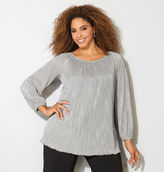 Avenue Plisse Pleated Peasant Top