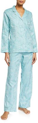 Derek Rose Paris 19 Floral Cotton Jacquard Pajama Set