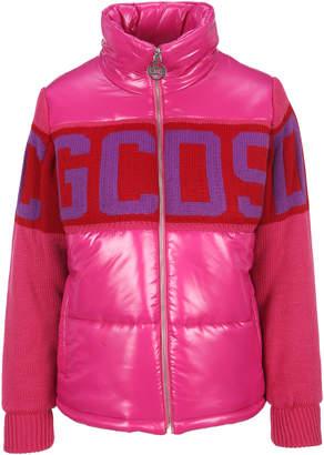 GCDS Knit Logo Band Padded Jacket