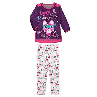 Camilla And Marc Girls Long Sleeve Pajamas Super Stuff + Detachable Cape - Size 6/8 Years (116/128 cm)