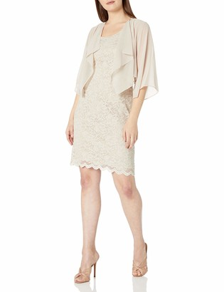 Jessica Howard JessicaHoward Women's Wing Collar Jacket Dress