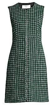 BOSS Women's Darsha Check Cotton Tweed Dress