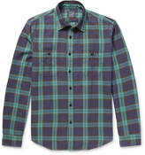 J.Crew Checked Cotton-flannel Shirt - Green