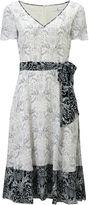 Jacques Vert Hanky Hem Tile Printed Dress