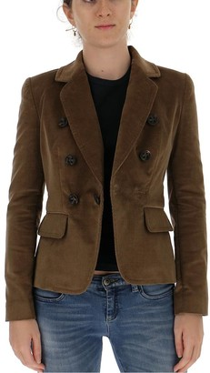 DSQUARED2 Corduroy Double-Breasted Blazer