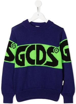 Gcds Kids Logo Colour-Block Jumper