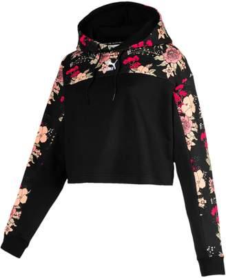 Puma Trend AOP Floral-Print Hoodie