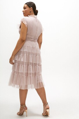 Coast Curve Tulle Tiered Frill Sleeve Dress