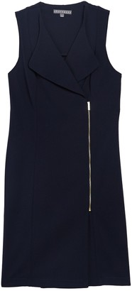 Sharagano Zipper Front Sleeveless Dress