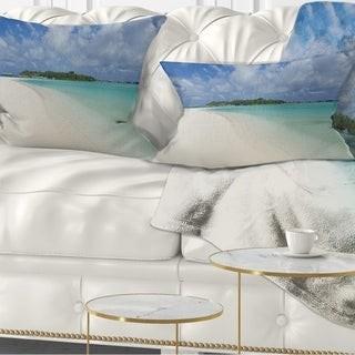 Design Art Designart Framed Effect Rocky Beach Seashore Throw Pillow Shopstyle