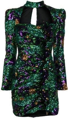 Giuseppe di Morabito Embellished Fitted Mini Dress
