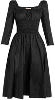 Brock Collection Dorothy square-neck taffeta dress