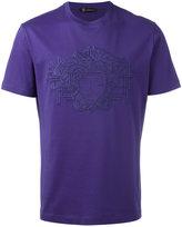 Versace 3D Medusa embroidered T-shirt - men - Silk/Cotton - S