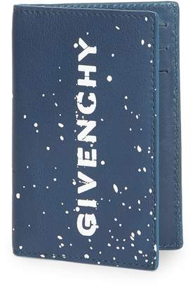 Givenchy Graffiti Logo Leather Card Case