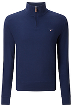 Gant Cotton Honeycomb Half Zip Jumper