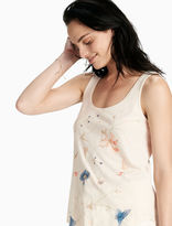 Lucky Brand Floral Embroidered Tank