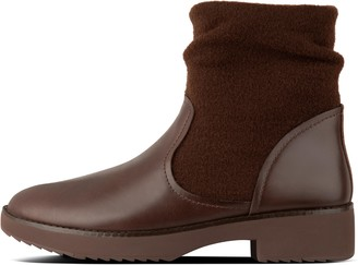 FitFlop Nisse Mixte Leather And Wool Ankle Boots
