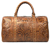 Patricia Nash Burnished Tooled Collection Floral-Embossed Milano Studded Weekender