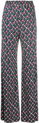 La DoubleJ All-Over Print Palazzo Trousers