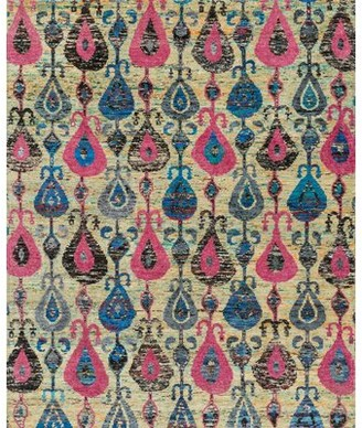 Loloi Rugs Giselle Hand-Knotted Silk Beige Area Rug Rug Size: Rectangle 2' x 3'