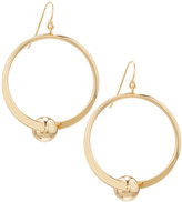 Lydell NYC Golden Round Swivel Drop Earrings