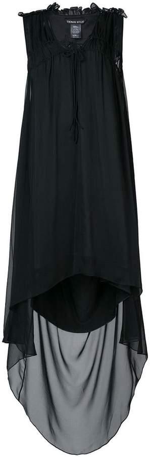 Thomas Wylde ruffle detailed high low hem dress