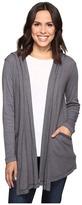 Allen Allen Long Sleeve Hooded Open Cardigan