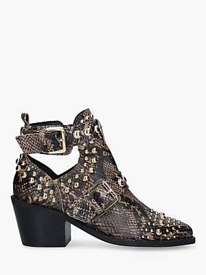 Kurt Geiger London Sybil Leather Block Heel Ankle Boots