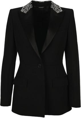 Givenchy Embellished Collar Peplum Blazer