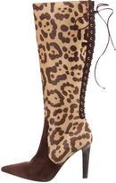 Valentino Ponyhair Knee-High Boots