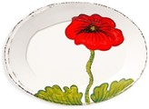 Vietri Lastra Small Ceramic Poppy Oval Platter
