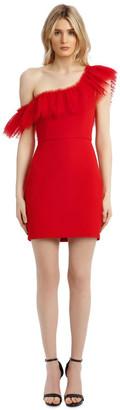 BCBGMAXAZRIA Eve Off-Shoulder Tulle Mini Dress