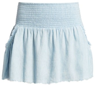 Ramy Brook Camryn Chambray Mini Skirt
