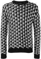 Balmain cable-knit jumper