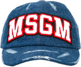 MSGM logo patch denim cap - men - Cotton - One Size