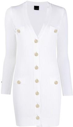 Pinko V-Neck Ribbed Knit Dress