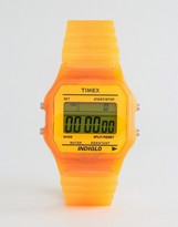 Timex Digital Watch In Orange