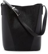 Vince Mod V Genuine Calf Hair & Leather Bucket Bag