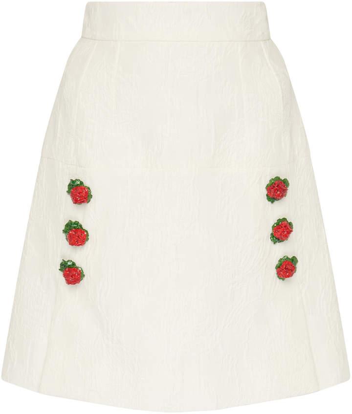 d8cc53b290 Dolce Gabbana Rose Skirt - ShopStyle