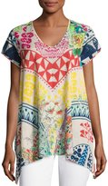 Johnny Was Limonada Flare Cotton Tunic, Multi