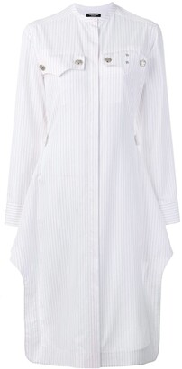 Calvin Klein Pinstripe Shirt Dress