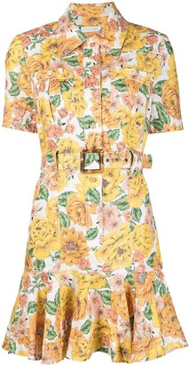 Zimmermann All-Over Floral Print Shirt Dress