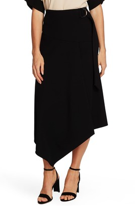 Vince Camuto Textured Twill Asymmetrical Skirt